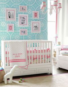 Modern nursery!! Love the colors! Can't wait for my niece or nephew to get here!! Can't stop looking at baby stuff!