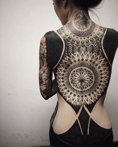 Amazing mandala full back tattoo - 100 Awesome Back Tattoo Ideas <3 <3