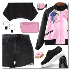 """""""Yoins Bomber jacket"""" by mada-malureanu ❤ liked on Polyvore featuring Alexander Wang, Victoria's Secret, bomberjacket, yoins, yoinscollection and loveyoins"""