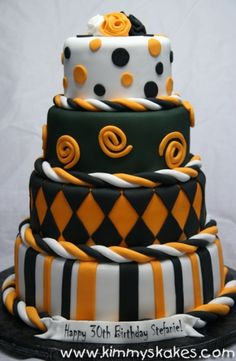 Halloween Bday Just Finished This Monster Of A Cake For 100 Guests Rounds Covered In Fondant