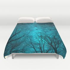 Buy ultra soft microfiber Duvet Covers featuring Stars Can't Shine Without Darkness by soaring anchor designs . Hand sewn and meticulously crafted, these lightweight Duvet Cover vividly feature your favorite designs with a soft white reverse side. Tree Artwork, Nature Artwork, Victorian Pattern, Geometric Star, Tree Silhouette, Stars At Night, Duvet Insert, Decoration, Furniture Decor