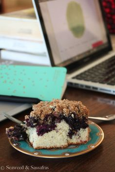 Blueberry Coffee Cake with Almond Flour Crumb