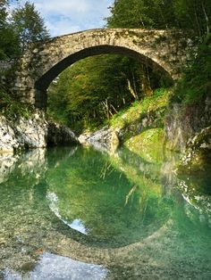 Napoleon Bridge, Nadiža, Slovenia
