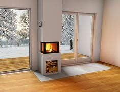 Living Room Decor Fireplace, Home Fireplace, Modern Fireplace, Fireplace Design, White Fireplace Surround, Fireplace Surrounds, House Extension Design, House Design, Cornwall House