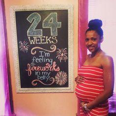 Pregnancy Chalkboard - 24weeks