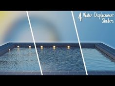 4 Awesome Water Displacement Shaders || Blender Tutorial - YouTube