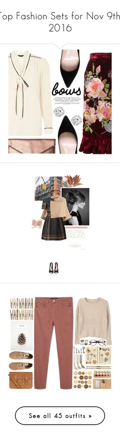 """""""Top Fashion Sets for Nov 9th, 2016"""" by polyvore ❤ liked on Polyvore featuring Dorothy Perkins, Alice Archer, Rebecca Minkoff, Kate Spade, bows, velvet, necktieblouse, Chloé, P.A.R.O.S.H. and Oscar de la Renta"""