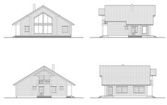 Lake House Plans, Log Homes, Floor Plans, How To Plan, House Styles, Cabin Ideas, Mountain, Mini, Creative