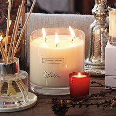 Winter Large 3-Wick Candle | The White Company