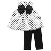 Rare Editions Baby Set, Baby Girls 2-Piece Bow Top and Leggings