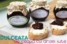 dulceata de ceapa cu ardei iute Vegetarian Recipes, Cooking Recipes, Onion Jam, Artisan Food, Chutney, Jelly, Cheesecake, Muffin, Food And Drink