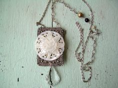 Repurposed Vintage  Full Moon Necklace by lesliejanson on Etsy, $90.00