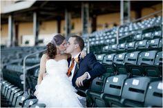 baseball wedding photo
