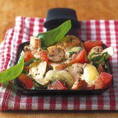 Tomatenpilze mit Gorgonzola