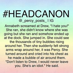 Instagram photo by just_that_dam_fangirl - I'm not sure if I should coo at the cuteness or go ballistic over drew :p . . #percypostsheadcanons #percabeth