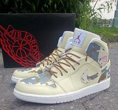 """Air Jordan 1 """"Digi Camo"""" Custom"""