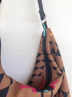 Southwestern Hobo Ethnic Hobo Bag Aztec Hobo Bag Native | Etsy Orange And Turquoise, Large Purses, Hobo Bag, Cotton Canvas, Aztec, Printing On Fabric, Ethnic, Brown, Red