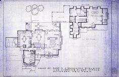 Bewitched tv show house plans....but for some reason, I always thought there was also a back staircase?