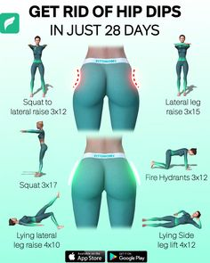 Dip Workout, Full Body Gym Workout, Slim Waist Workout, Gym Workout Tips, Workout Videos, Hip Dip Exercise, Weekly Workout Routines, Toned Legs Workout, Workout List