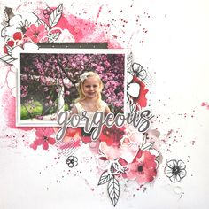 Video tutorial on how to make this scrapbooking layout with the Uniquely Creative Magenta Scrapbooking & Card Making Kit Lots of other video and scrapbooking ideas are available too Friend Scrapbook, Disney Scrapbook Pages, Scrapbook Titles, Kids Scrapbook, Scrapbook Journal, Scrapbook Sketches, Scrapbook Page Layouts, Travel Scrapbook, Mixed Media Scrapbooking