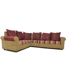 Westido Red 2 2 Corner Sofa With 6 Cushions, http://www.snapdeal.com/product/westido-red-22-corner-sofa/639834678460