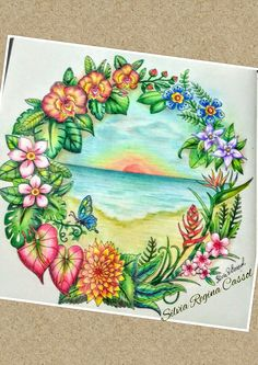 Colouring Pages, Adult Coloring Pages, Coloring Books, Colored Pencil Techniques, Colored Pencil Tutorial, Lost Ocean, Mandala Art, Magical Jungle Johanna Basford, Johanna Basford Secret Garden