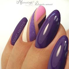 In search for some nail designs and ideas for the nails? Here's our list of 28 must-try coffin acrylic nails for trendy women. Beautiful Nail Art, Gorgeous Nails, Fancy Nails, My Nails, Finger, Uñas Fashion, Trendy Nail Art, Funky Nail Art, Purple Nails