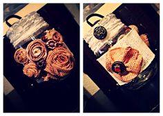 Embellished Burlap && Lace Mason Jar. #embellished #burlap #lace #mason #jar #masonjar #brffco #youcanbuyme #forsale