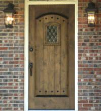 Old World Exterior Wood Front Entry Door DbyD-3053