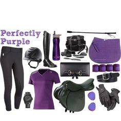 """Perfectly Purple Riding Outfit"""