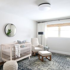 Neutral_Nursery_Reveal-64 from Project Nursery. This is a boy nursery but it could easily go gender neutral with the white and grey mid century modern decor.