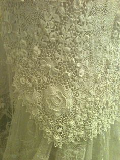 Rosemary Cathcart Antique Lace and Vintage Fashion: The Sheelin Lace Museum Irish Crochet Lace Section