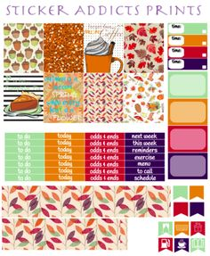 Free Printable Falling Into Autumn Weekly Planner Stickers from Sticker Addicts Anonymous