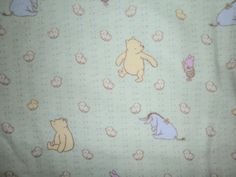 Winnie The Pooh Infant Receiving Blanket by StitchesByDee on Etsy, $15.00