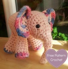 Free Baby Elephant Crochet Pattern Lots of free patterns at this site.