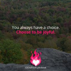 In every moment it's up to you to choose how you want to be. Choose joy. #CEOofYourLife