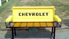 Tailgate bench made by my husband :)
