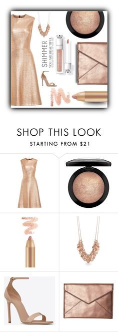 """""""The Look: Nude Lip"""" by stileclassico ❤ liked on Polyvore featuring beauty, Lela Rose, Trilogy, MAC Cosmetics, Kim Rogers, Yves Saint Laurent, Rebecca Minkoff and nudelip"""