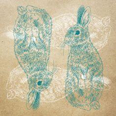 Orie's art【Rabbit / うさぎ 】#rabbitillust #design #動物イラスト #うさぎイラスト #rabbit #イラスト #デザイン #イラスト #細密画 #絵 #おしゃれイラスト Illustration, Illustrations