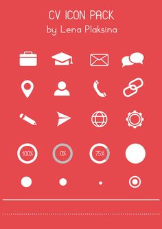 Free CV Icon Pack on Behance