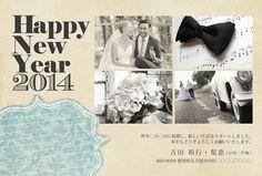 結婚報告を兼ねた年賀状デザイン|sora(gallery)