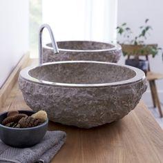 Marmorwaschtisch Scrula Grey – Verkauf von Waschtischen für Waschbecken - Tikamoon