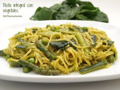 Pasta integral con vegetales - MisThermorecetas