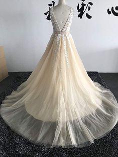 Abaowedding Women's Wedding Dress for Bride Lace Applique Evening Dress V Neck Straps Ball Gowns Lace Applique, Ball Gowns, Evening Dresses, Wedding Planning, V Neck, Bride, Amazon, Formal, Store