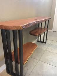 Related image Wood Entry Table, Entry Tables, Wooden Tables, Rustic Entryway, Live Edge Console Table, Live Edge Table, Live Edge Wood, Table Sofa, Live Edge Furniture
