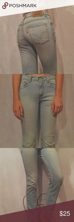 Levi's Lightwash Red Tab 510 Super Skinny Jeans Light wash Levi's Redtab jeans. 510 Super Skinny. Girls 16 regular, 28x28, fits a size 0 women's. Some wear, but no other flaws! Made in Egypt. Very durable and cute for everyday wear! :) Levi's Jeans Skinny