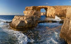 Gozo, Malta has the Azure Window (Tieqa Zerqa) which is a natural formed limestone arch.