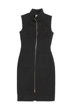 L agence long dress zip front