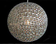 Pendant Lights Made from Recycled Objects - Recycled Pull Tab Pendant from Mauricio Affonso   #Lamps #Lighting #Recycled  
