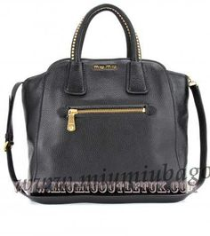 Cheap Miu Miu Leather Tote With Studded Handles UK Sale in 2013/2014